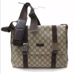 Authentic Gucci Canvas Shoulder Crossbody Bag